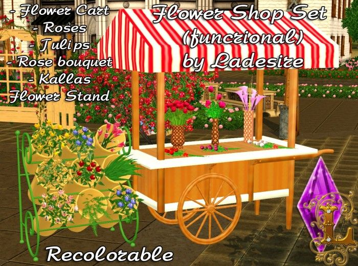 flower shop set functional by ladesire sims 3 downloads cc