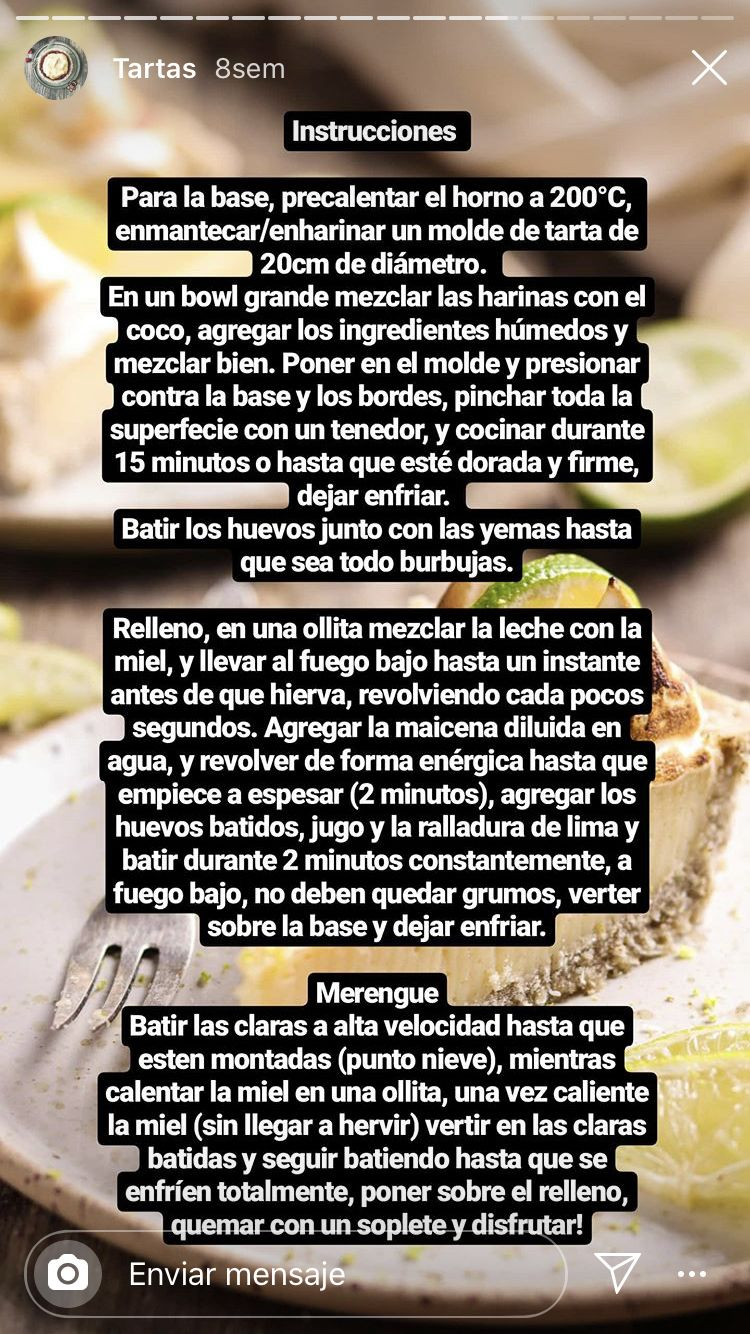 Pin De Natalia Cars En Sweet Sour Tartas Ingredientes Horno