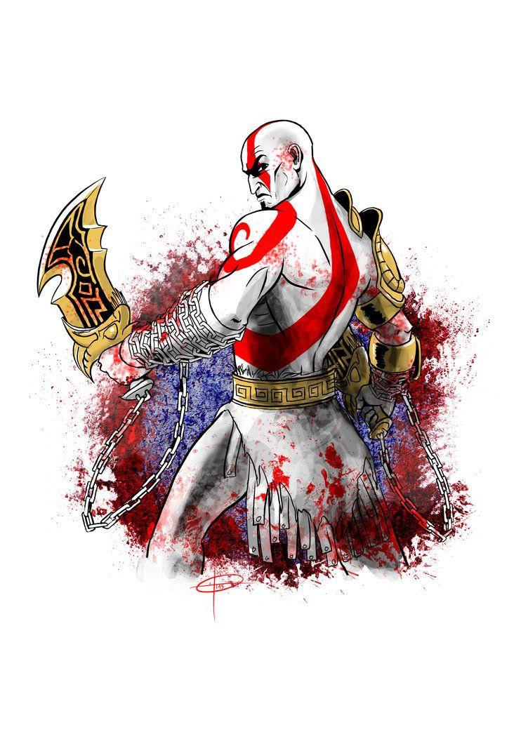 God Of War Kratos Game Com Imagens Desenhos Foto De Capa Ilustracao