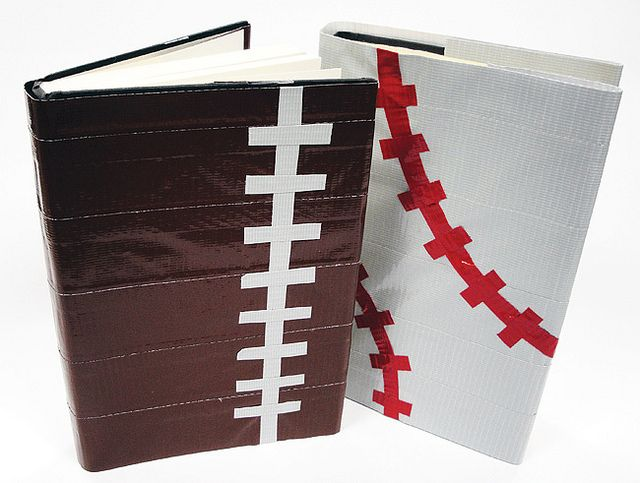 Make Your Own Book Cover Craft ~ Duct tape book covers cuadernos escolares cinta