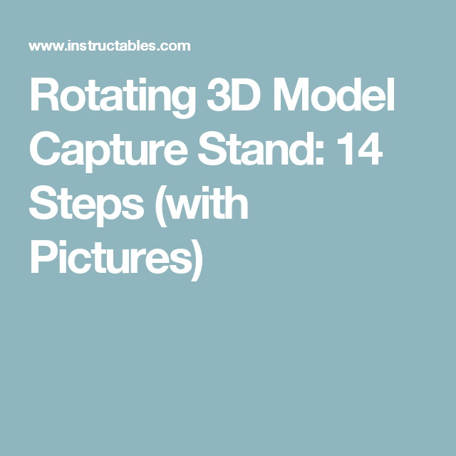 Rotating 3D Model Capture Stand Diy, Arduino, Router sled
