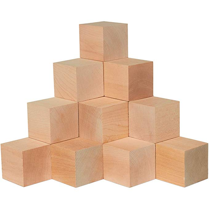 Amazon Com 2 5 Inch Wooden Cubes Bag 2 Unfinished Plain Wooden Square Blocks Baby Shower Decorating Blocks For Puzz Wooden Cubes Toy Craft Diy Art Projects