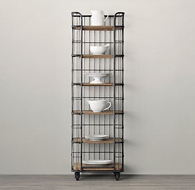 Circa 1900 Caged Baker S Rack Narrow Single Shelving In 2019