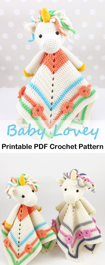 Security Blanket - Baby Lovey Crochet Patterns - Cute Gifts - A More Crafty Life #baby #babycrochetpattern #crochet #crochetpattern #crochetsecurityblanket