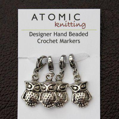 New! Owl Stitch Markers - Crochet clasp