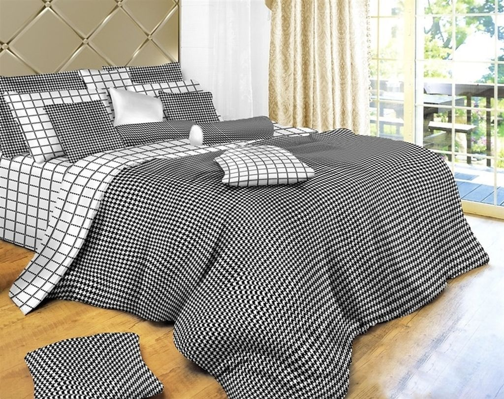Black And White Check Bedding Modern Houndstooth Comforter