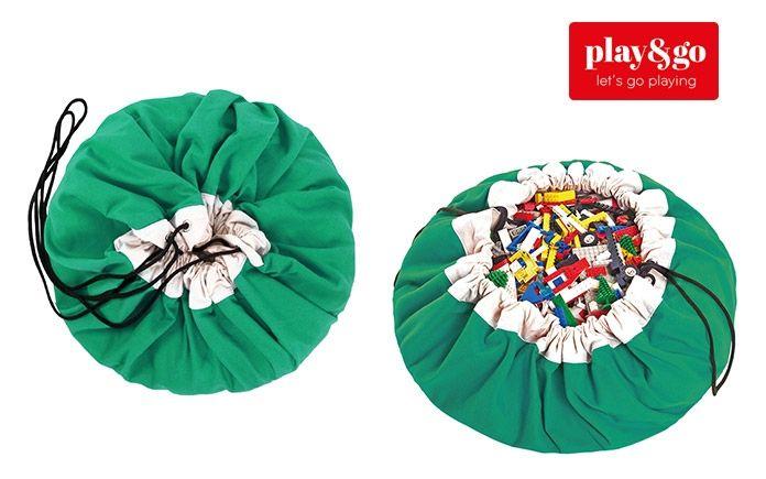 saco de almacenaje y manta de juegos infantil verde