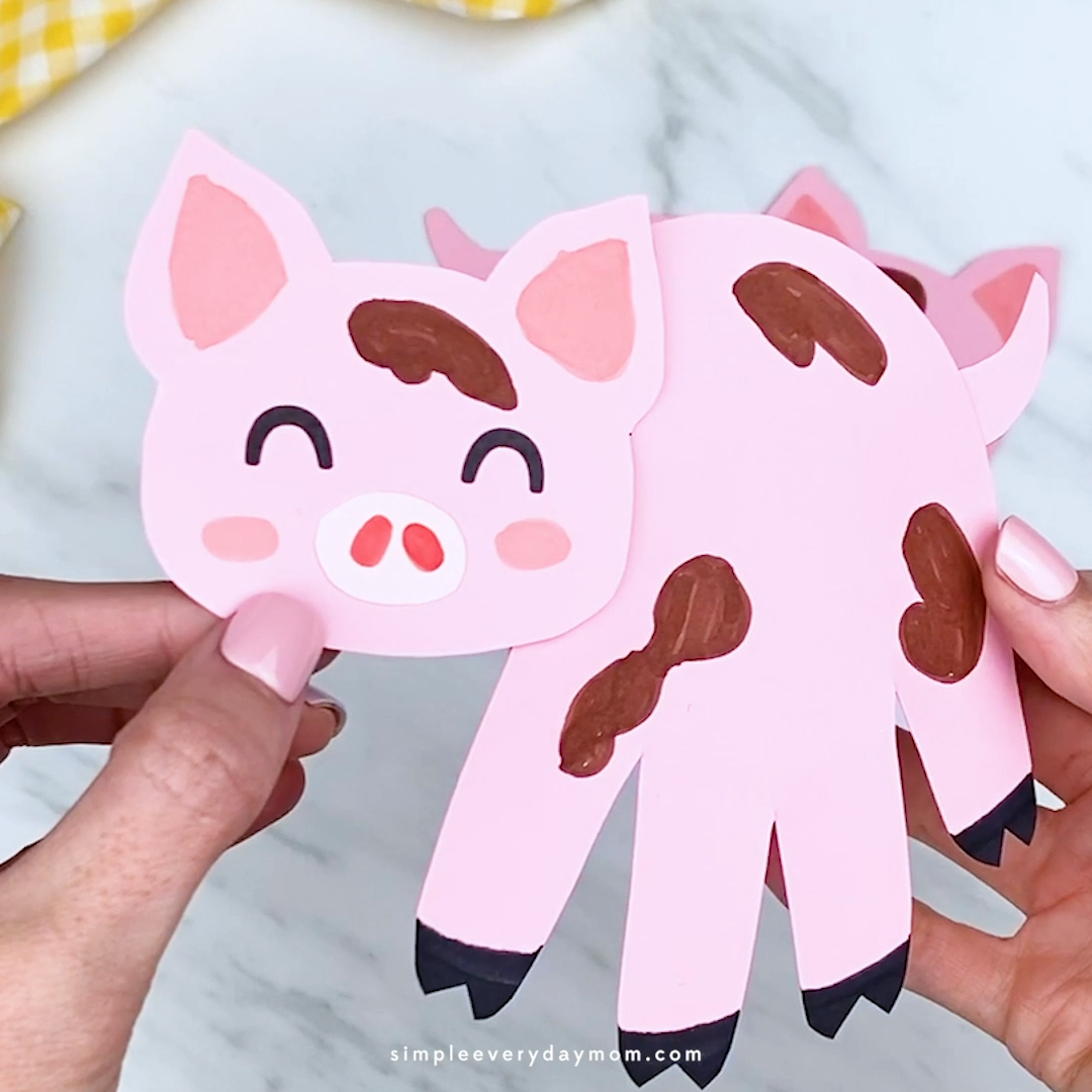Handprint Pig Craft For Kids