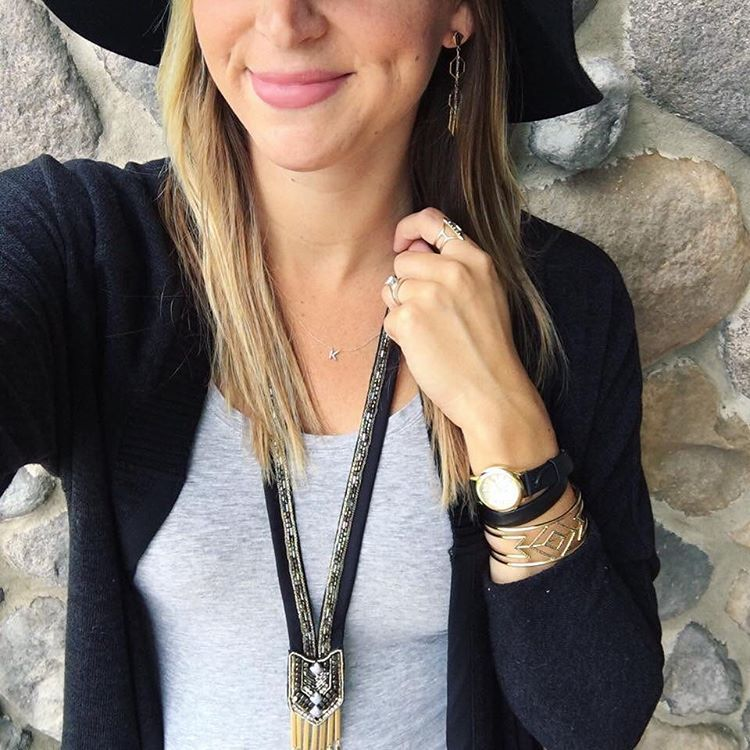 One of my style icons, @kimjensenstyle rocking the Nile Necklace which is on sale through tonight! Shop the link above.