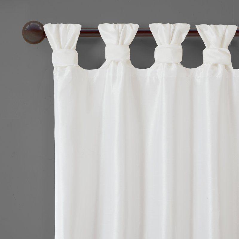 Rivau Solid Semi Sheer Tab Top Single Curtain Panel Window Curtains Curtains White Curtains White sheer tab top curtains