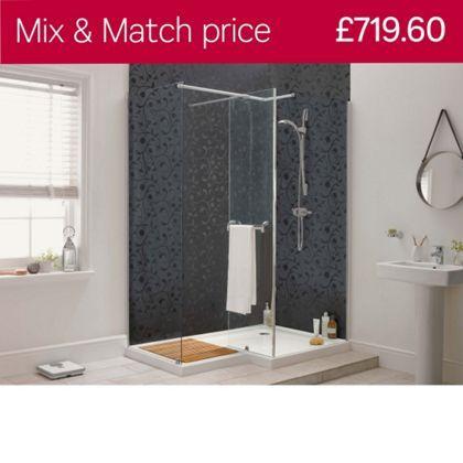 Aqualux Sapphire L Shape Shower Enclosure LH 1000 X 1500mm