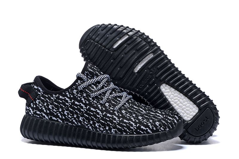 2016 Adidas Yeezy Boost 350 Women Running Shoes black gray - Click Image to  Close