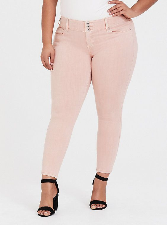 c62416fb21 Mid-Rise SPRSKNY Jeggings in Light Pink Colored Jeggings