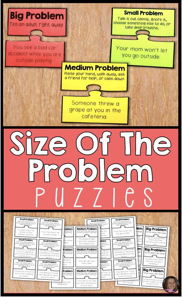 Size Of The Problem Puzzles For Social Problem Solving And Emotional Regulation Social Emotional Learning Social Skills Lessons Social Emotional Skills