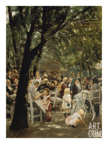 A Munich Beer Garden, 1883/84 Giclee Print by Max Liebermann at Art.com