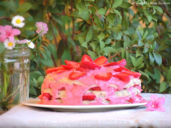 Torta alle Fragole (Crudista e Senza Zucchero)| Dolce Senza Zucchero