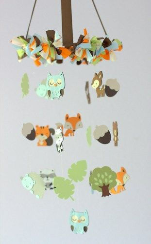 Forest Friends Baby Shower Decorations Nursery Mobile Small Decor