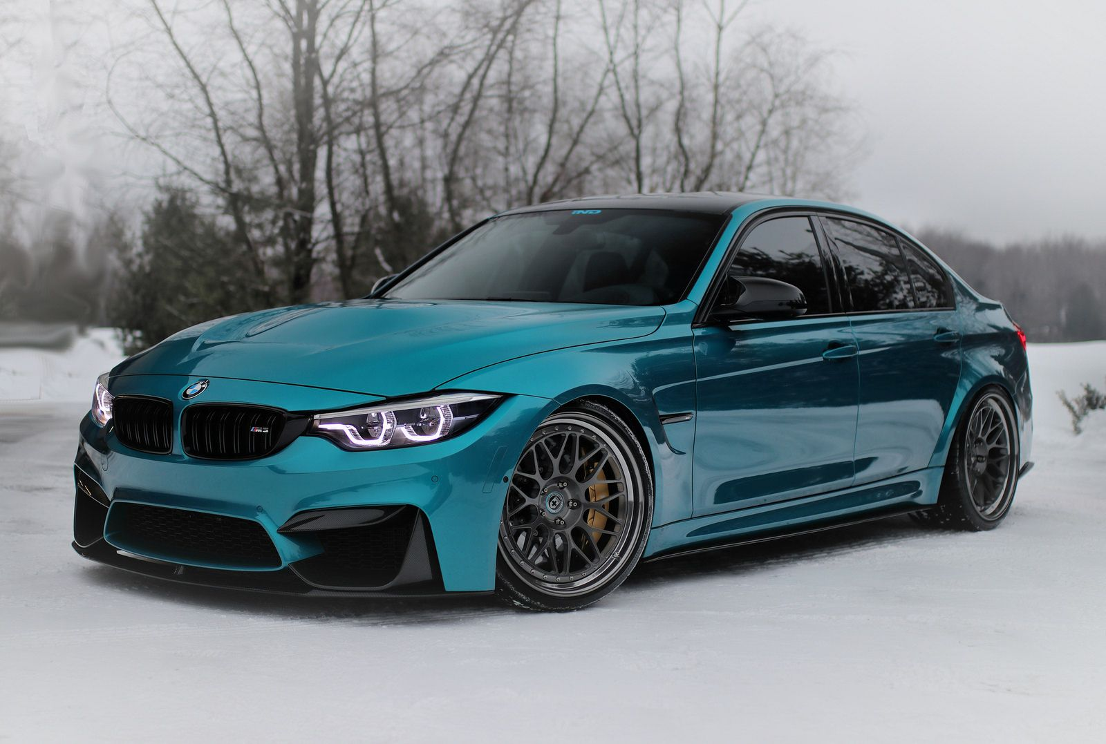 Bmw M3 With Subtle Mods Shines In Atlantis Blue Paintjob Bmw