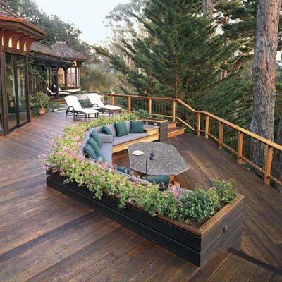 Les 25 meilleures id es de la cat gorie terrasses en bois sur pinterest piscine cach e patios - Bassin terrasse en bois l caen ...