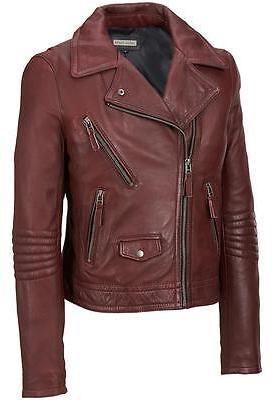 Black Rivet Womens Leather Motorcycle Jacket Motorcycles Jackets