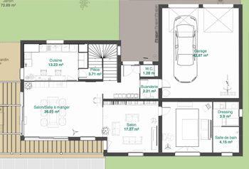 Superbe Lovely Plan De Maison Avec Etage Gratuit #1   Plan Maison 3D Logiciel  Gratuit Pour
