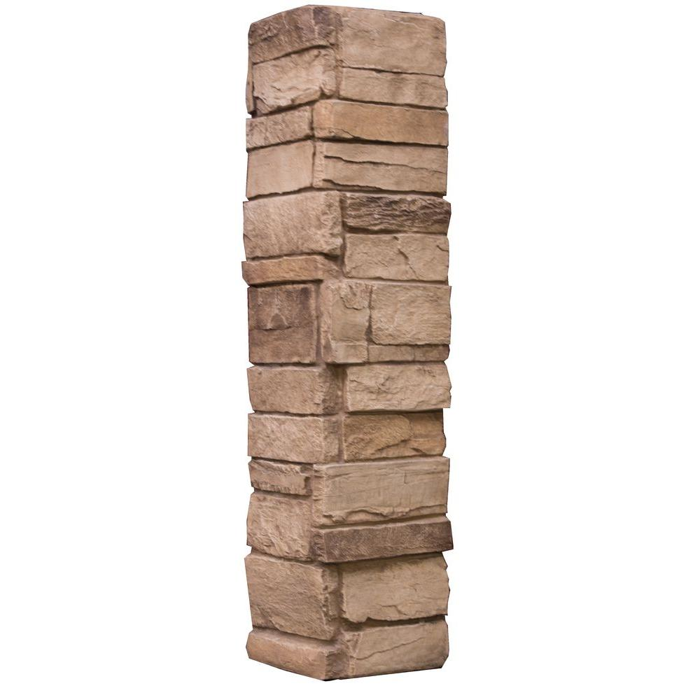 Urestone Ledgestone Keyless Corner 35 Desert Tan 6 3 Sq Ft Stone Veneer 2 Pack Stone Veneer Panels Stone Veneer Manufactured Stone