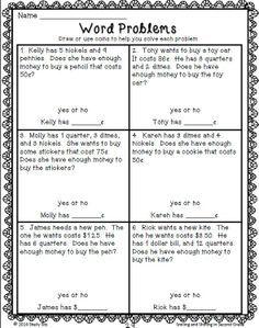 money word problems 2nd grade - Google Search | Math | Pinterest ...