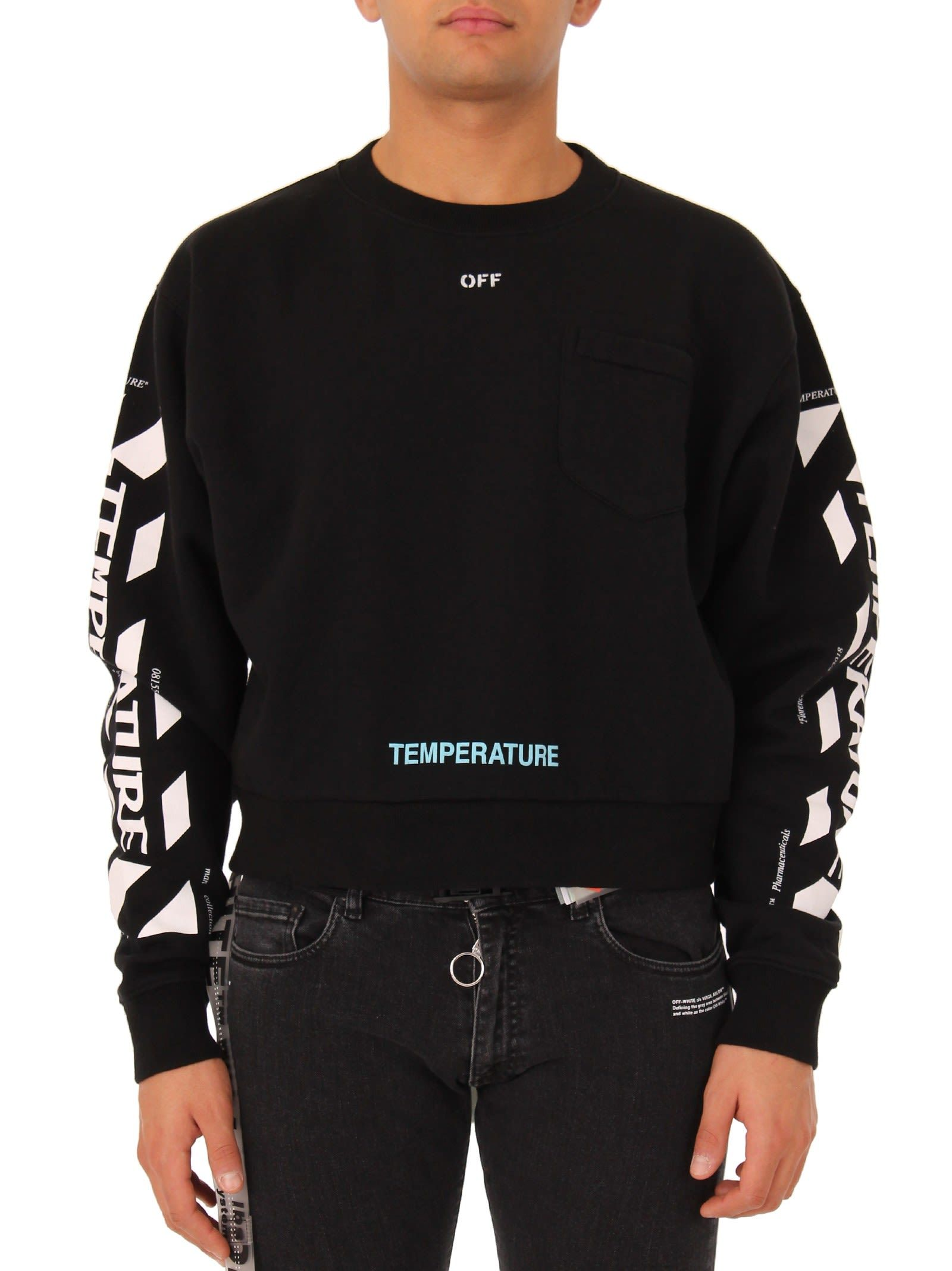 40f37bf0 OFF-WHITE BLACK TEMPERATURE CREWNECK. #off-white #cloth # | Off ...