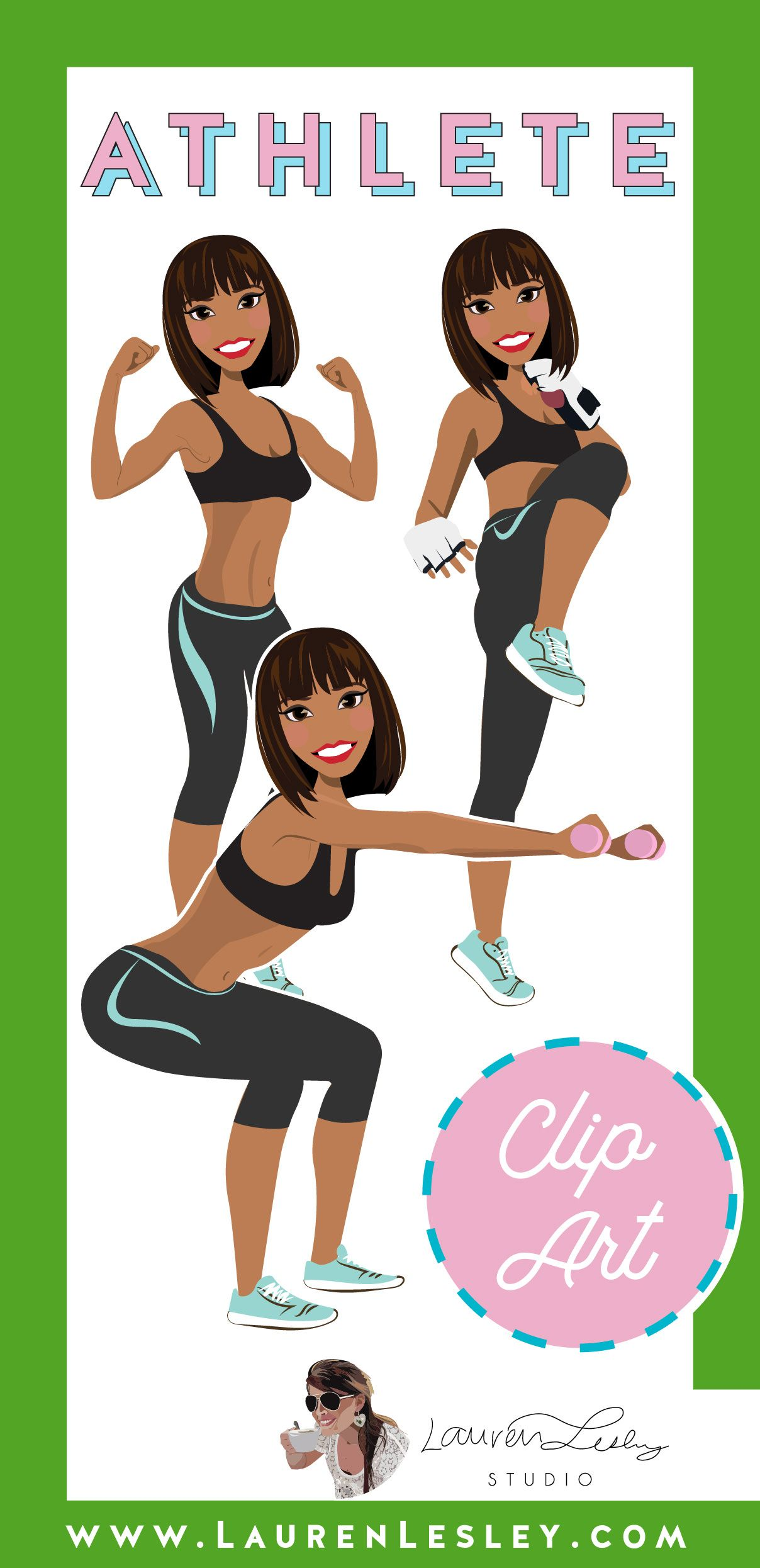 Athlete Clip Art Olivia Personal trainer business