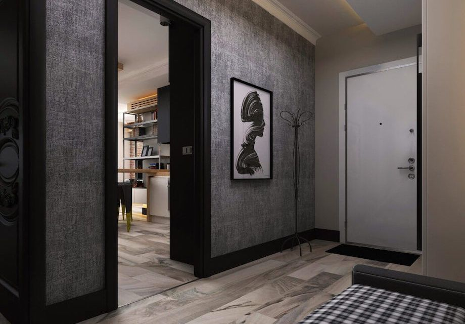 Foyer - Shades of gray for a stylish, masculine, modern and inviting
