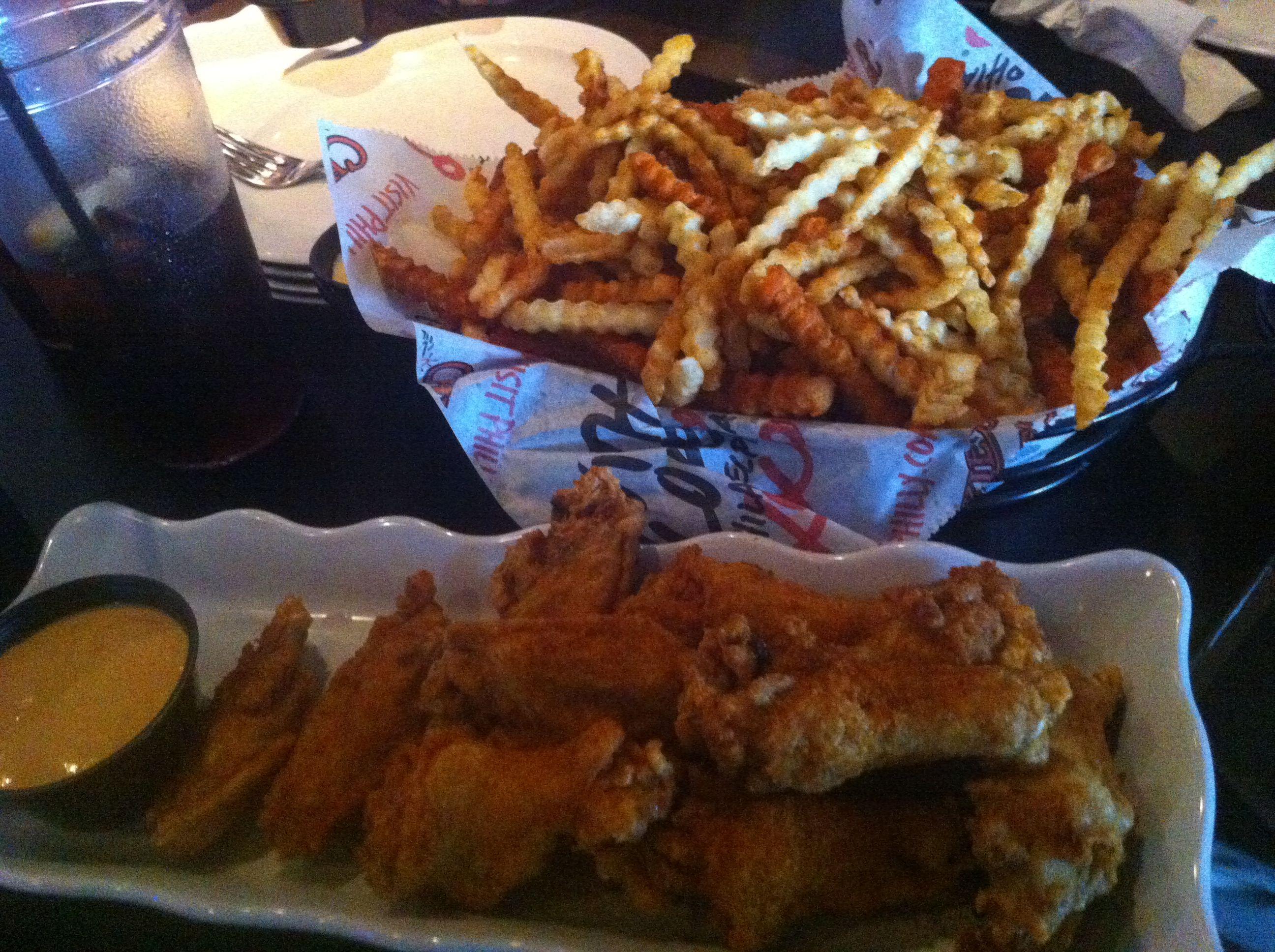 Crab Fries and Wings at Chickie and Pete's in Atlantic