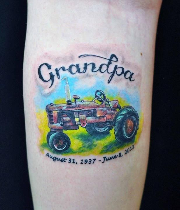 Done by Bridget at Pure Imagination in Fairfield, Iowa. It is located on my left calve. I plan on getting one for my grandma too.