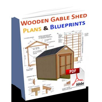12 16 Gable Wooden Shed Building Plans Blueprints For Erecting A Garden Shed In 2020 Shed Plans Backyard Storage Sheds Shed