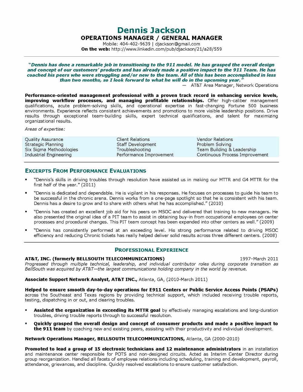 Sample Resume For Operations Manager In Bpo Valid Construction For Operations Manager Report T Job Resume Examples Project Manager Resume Operations Management