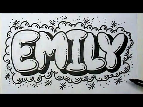How to Graffiti Letters - Write Emily in Bubble Letters - YouTube ...