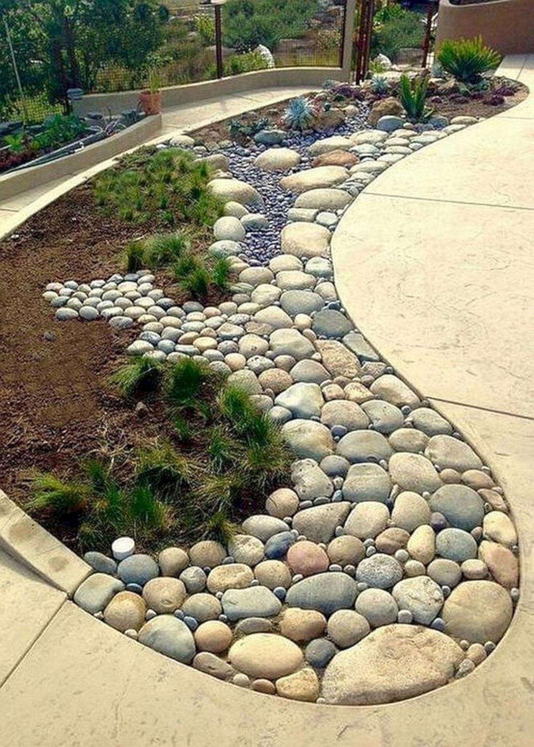 Wonderful Backyard Design With Gravel Stone Ideas Teracee Front Yard Landscaping Design Backyard Garden Landscape Rock Garden Landscaping