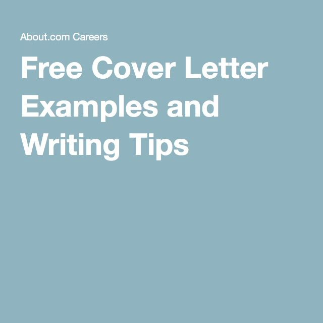 100+ Free Professional Cover Letter Examples Free cover letter - writing a professional cover letter
