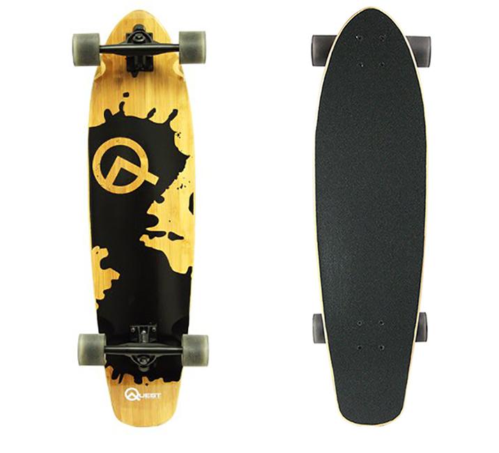 Pin On Quest Rorshack Bamboo Longboard Skateboard 34 Inch