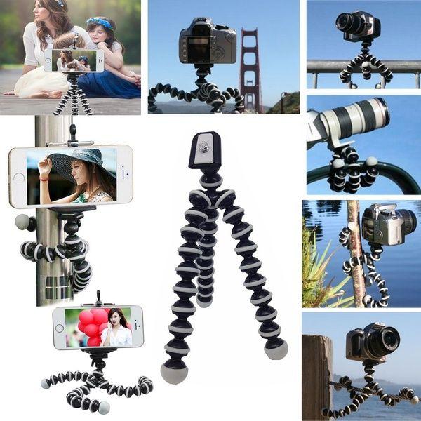 Flexible Octopus Tripod Portable Holder Stand for DSLR Digital Cameras Smartphones Video Recorders Mirrorless Cameras
