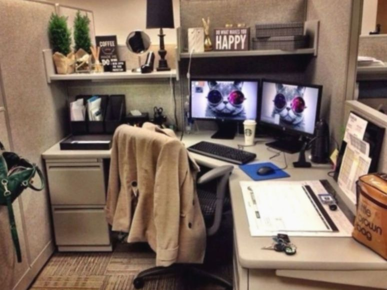 Office Desk Organization Cubicles Deskgoals Homeoffice