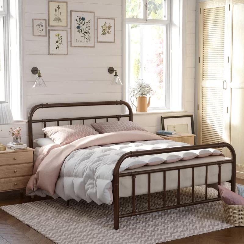 Andover Mills Perez Metal Bed Frame, Wayfair Metal Bed Frames Queen