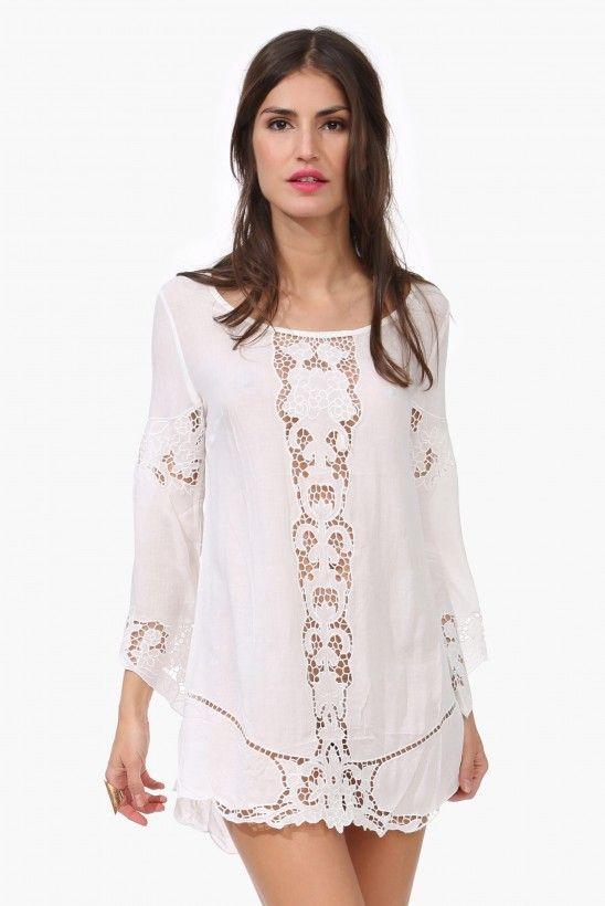 Moom Crochet Mini Dress | Shop for Moom Crochet Mini Dress Online