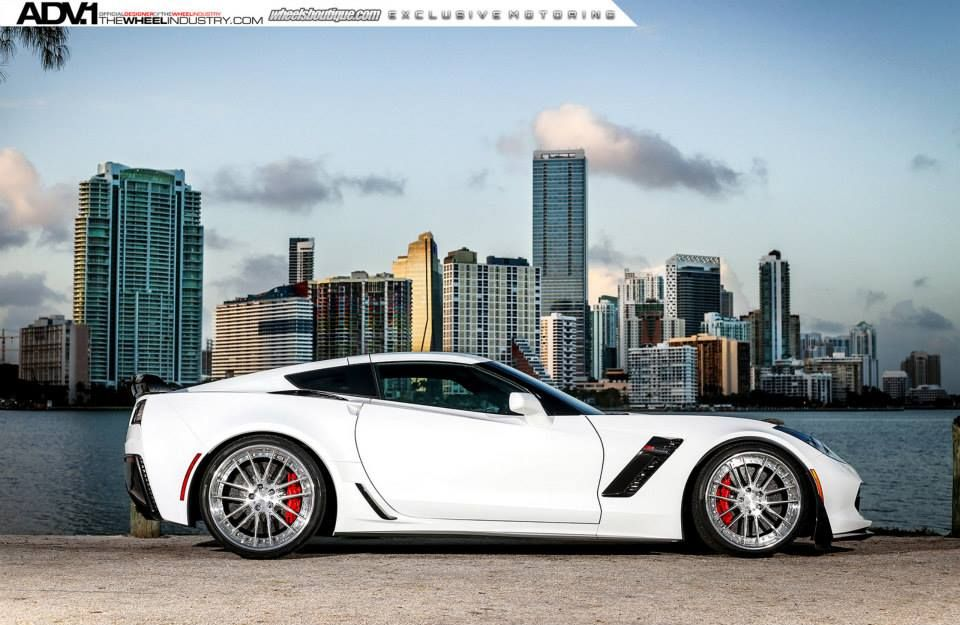 Gallery Corvette Z06 C7 Slammed On Adv1 Wheels Corvette Z06