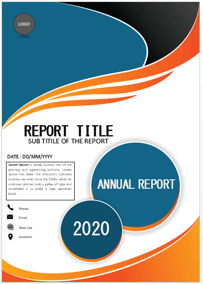 Cover Page Classic Annual Report Cover Page Cover Pages Cover Page Template Word Book Cover Page Cover Pages