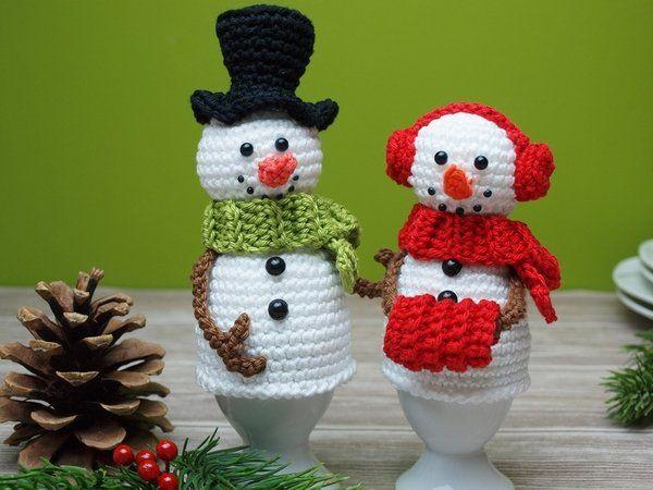 Crochet bonhomme de neige // Crochet chauffe-oeufs // PDF   – Weihnachtsdeko