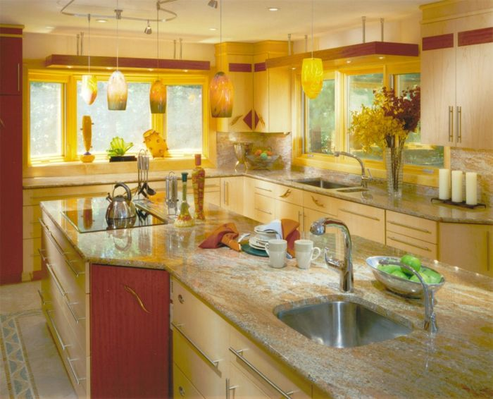wandfarbe küche wände streichen ideen küche gelbe wände - ideen für küchenwände