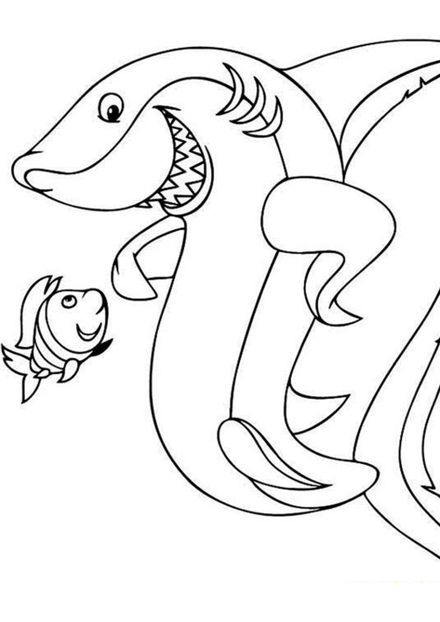 Free Easy To Print Shark Coloring Pages Shark Coloring Pages Dolphin Coloring Pages Coloring Pages