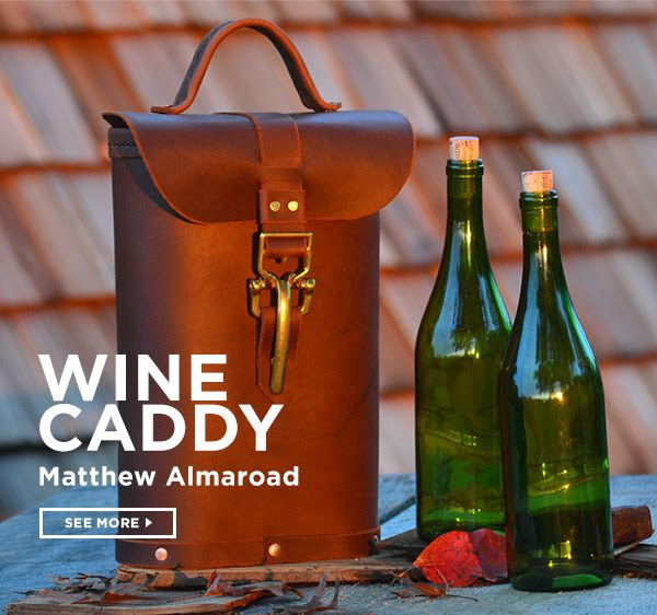 Matthew Almaroad's Wine Caddy is the product of the day.