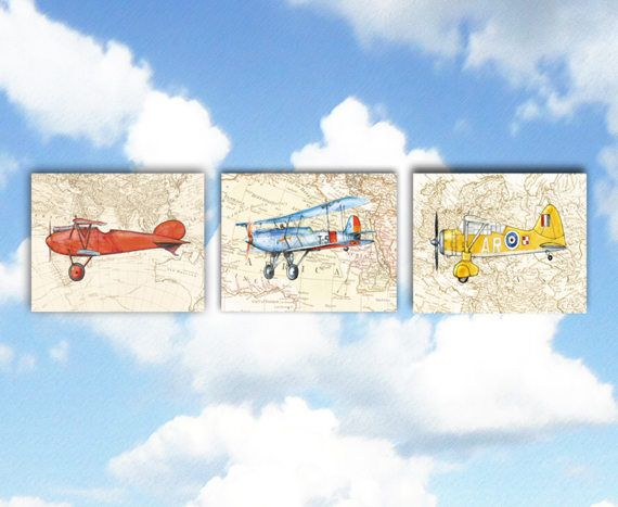 Airplane world map set of three printable prints military for the airplane world map set of three printable prints military gumiabroncs Image collections