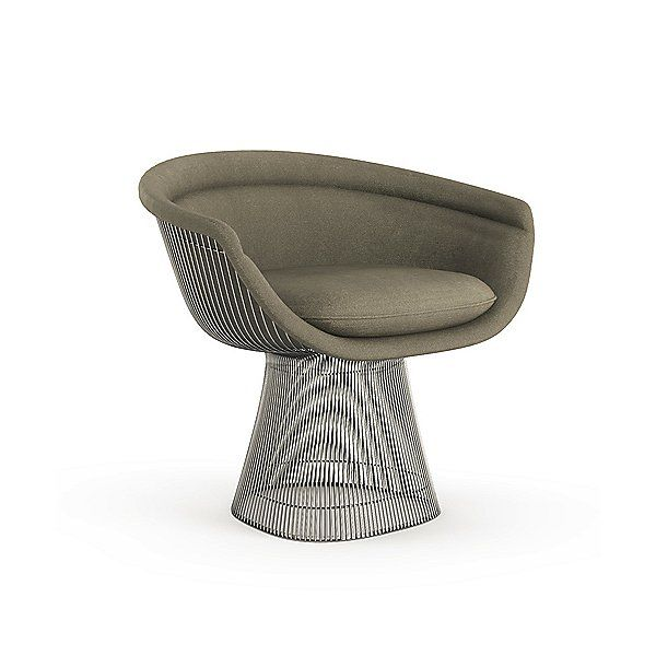 Super Knoll Platner Lounge Chair 1715L N K784 79 In Brown Spiritservingveterans Wood Chair Design Ideas Spiritservingveteransorg